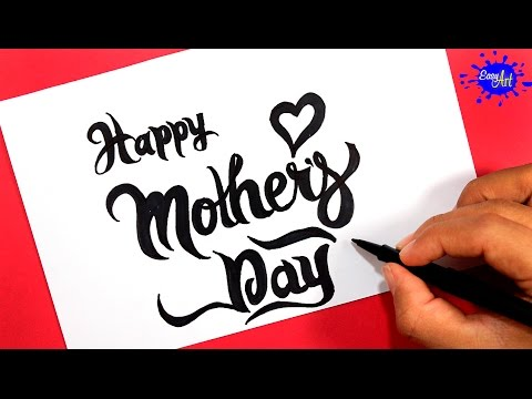 Como dibujar una tarjeta para el Día de la Madre