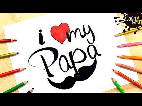 Como dibujar una Tarjeta para el Día del Padre