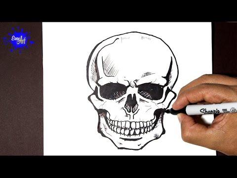 Como Dibujar Una Terrorífica Calavera Para Halloween