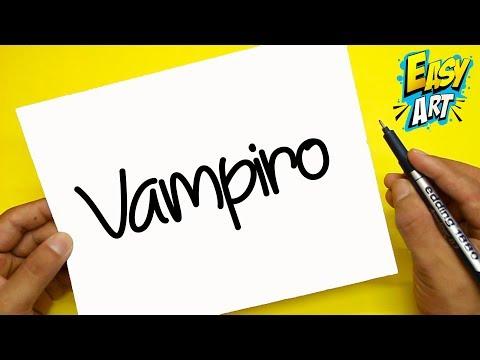 Como dibujar unos Monstruitos a partir de la palabra Vampiro