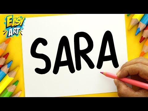 Como dibujar y decorar el nombre Sara