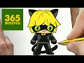 Como dibujar a Cat Noir de Ladybug