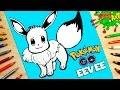 Como dibujar a Eevee de Pokémon Go