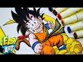 Como dibujar a Goku de niño