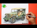 Como dibujar un coche Jeep Willys