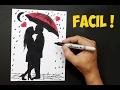 Como dibujar una pareja enamorada para San Valentín