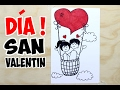 Como dibujar una postal para San Valentín fácil